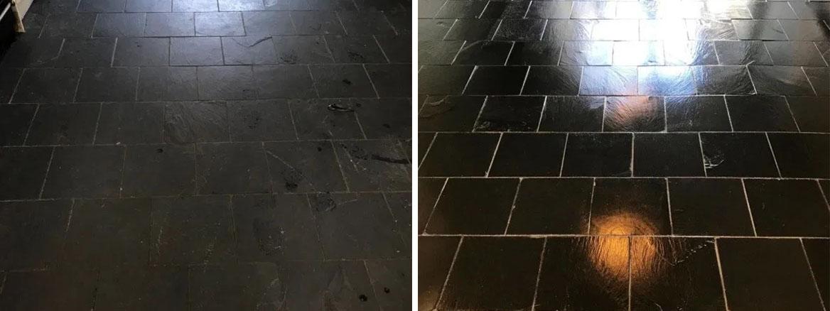 Renovation of a Black Slate Kitchen Floor in Lancaster
