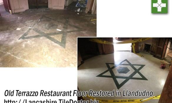Old Terrazzo Floor Fully Restored as Part of Renovation Work in Llandudno